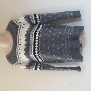 NWOT American Eagle Wool Blend Fair Isle Nordic Sweater S